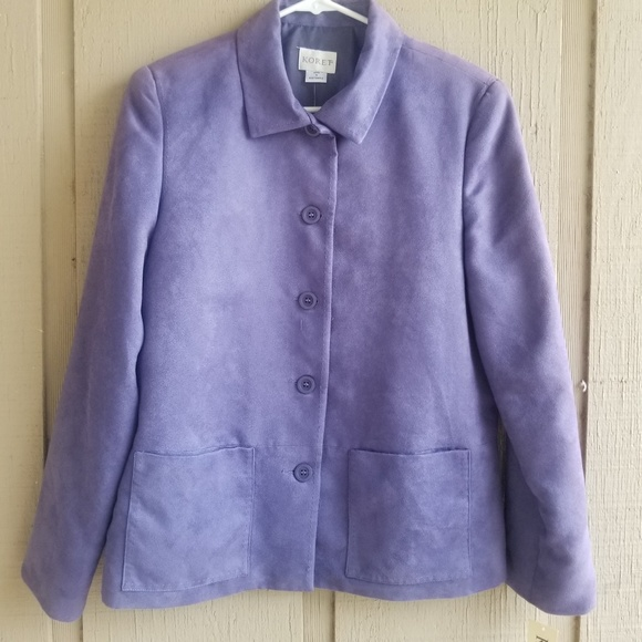Koret Jackets & Blazers - Koret womens suede cloth shirt jacket size 8